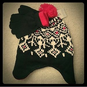 🆕 Carters Hat & Gloves 🧤 Set